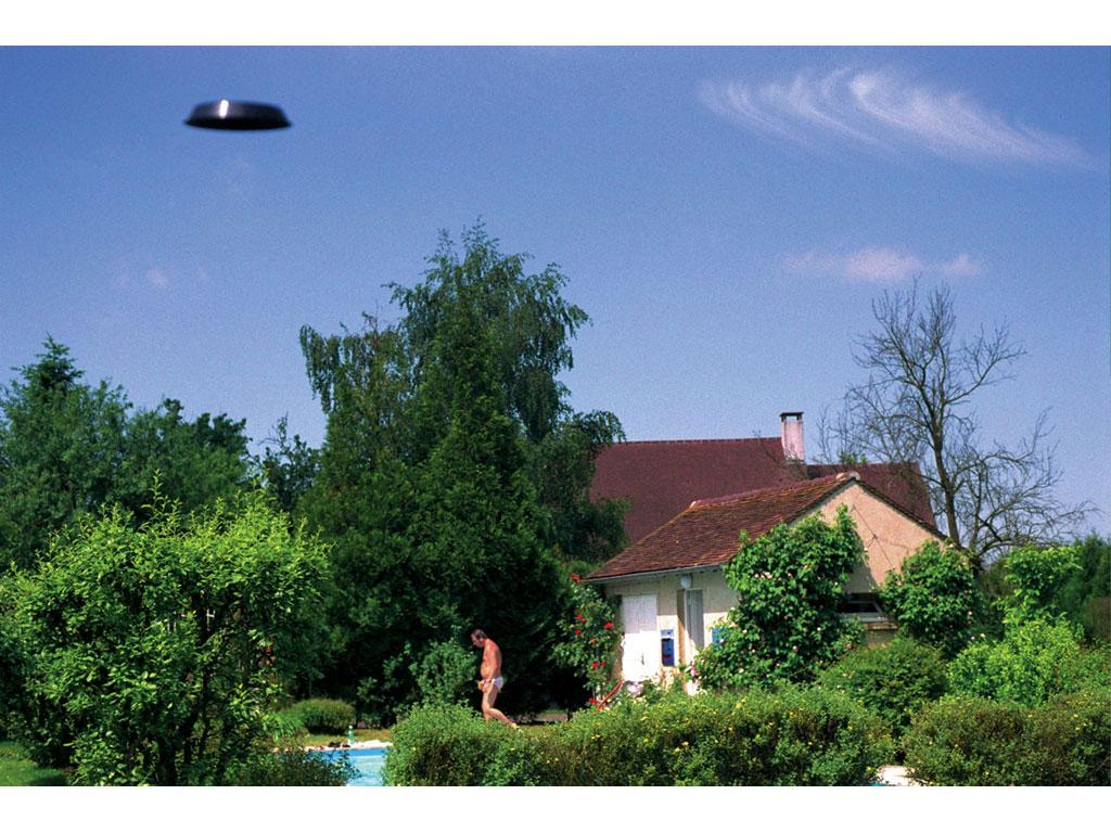 Claude Closky, 'Flying saucer, La Tanière (1)', 1996, c-print, 20 x 30 cm.