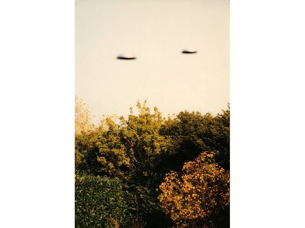 Claude Closky, 'Flying Saucers,Back of the Garden (4)', 1996, c-print, 30 x 20 cm.