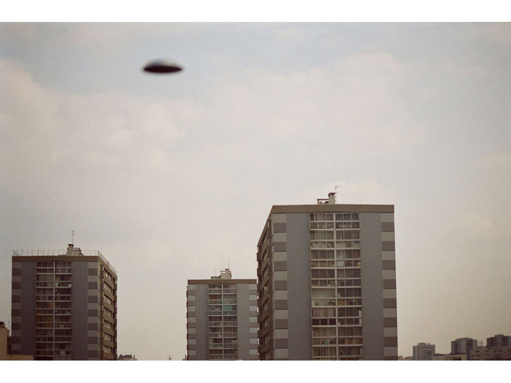 Claude Closky, 'Flying saucer, Vitry Buildings n°2', 2005, c-print, 20 x 30 cm.