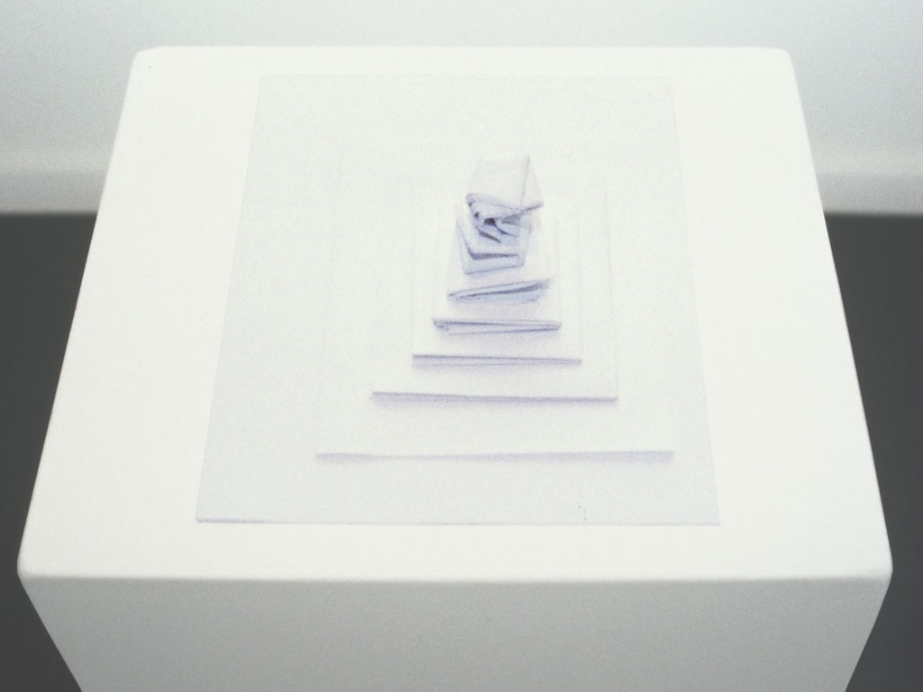 Claude Closky, 'Folding', 1990, paper, 10 x 21 x 29,7 cm.