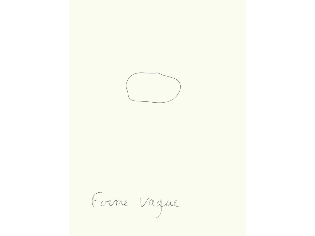 Claude Closky, 'Forme vague [loose form]', 1996, black ballpoint pen on paper, 30 x 24 cm.