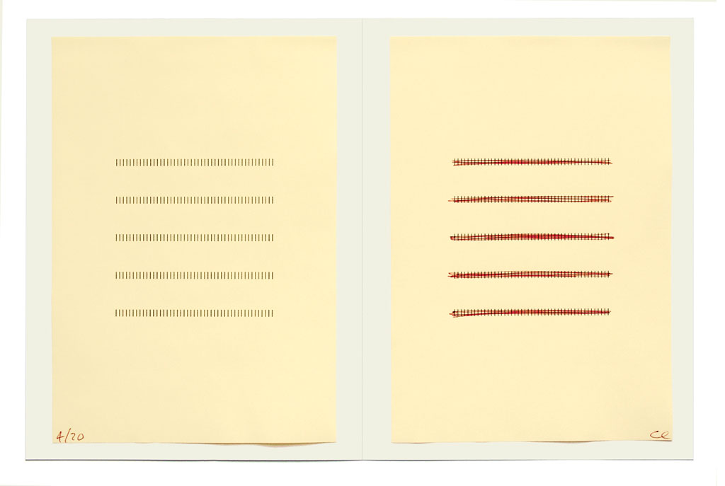 Claude Closky, 'Ivory Form', 2006, artist edition, laser print and ball point pen on colored paper, 32 x 44 cm.