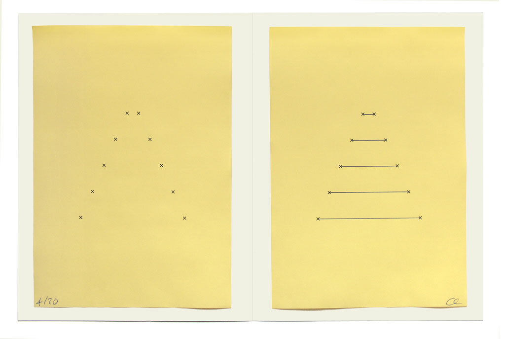 Claude Closky, 'Yellow Form', 2006, artist edition, laser print and ball point pen on colored paper, 32 x 44 cm.