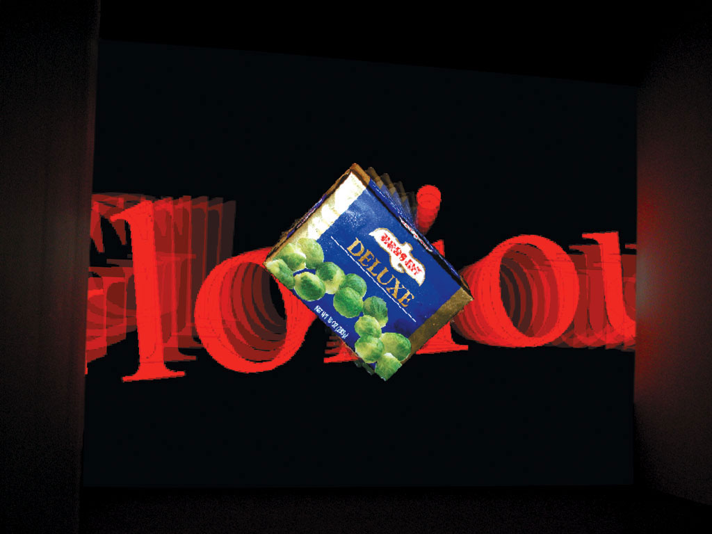 Claude Closky, 'Full Flavored', 1998-2000, projector, dvd player, silent, wall-to-wall & floor-to-ceiling projection, loop.