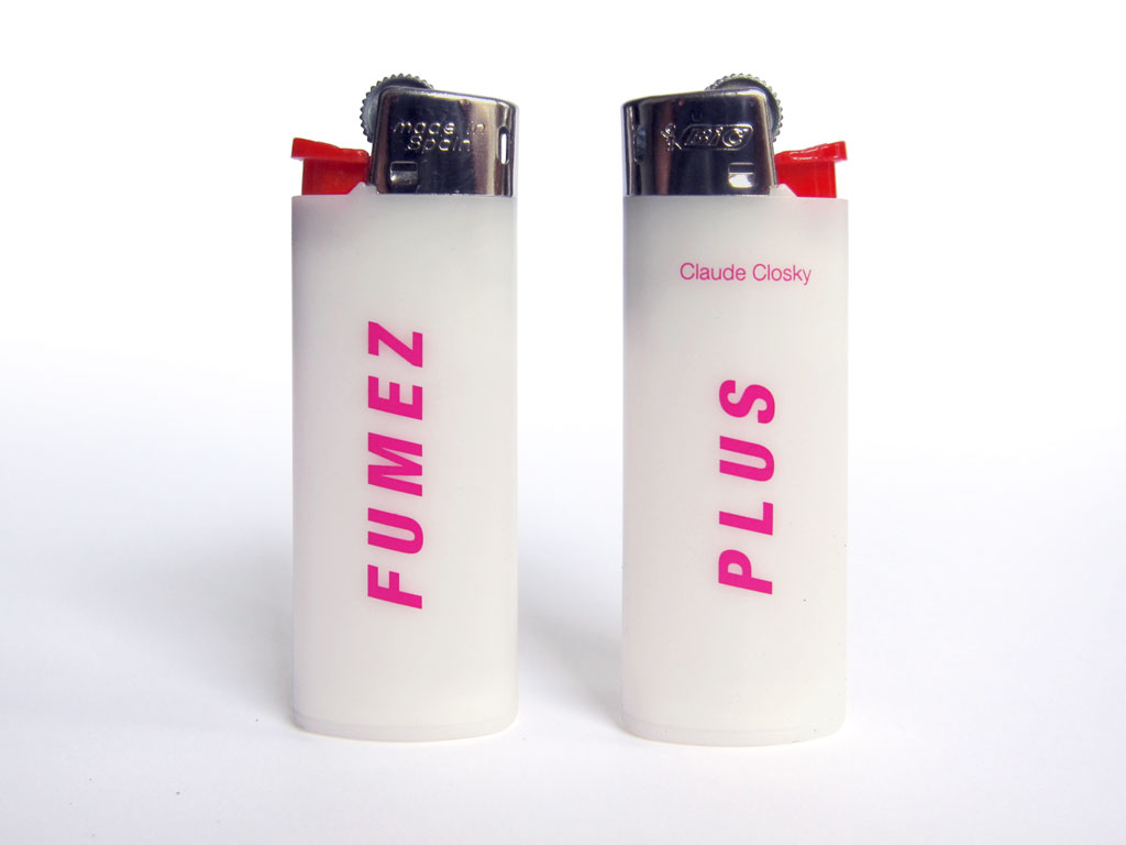 Claude Closky, 'Fumez plus [Smoke more]', 1999, lighter, Paris: Colette.