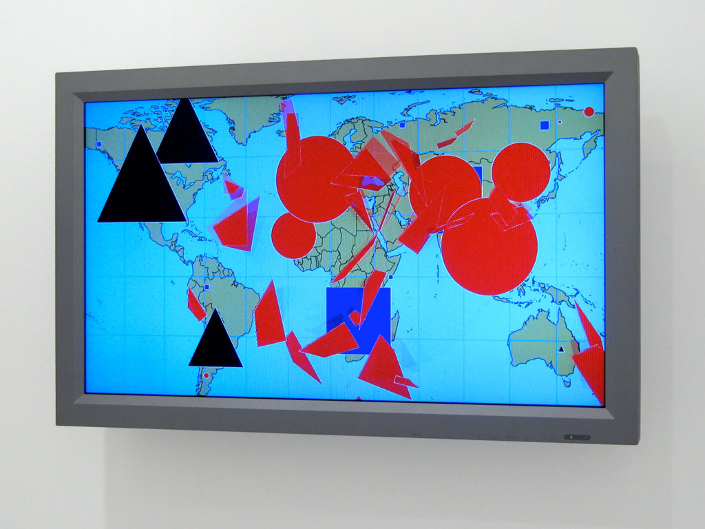 Claude Closky, 'Geo Metry,' 2009, computer, flat screen, unlimited duration.