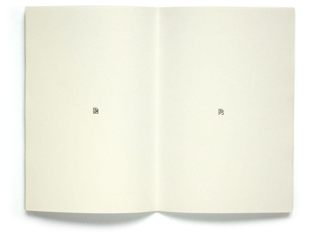 Claude Closky, 'Image d'icône et icône par défaut d'image', 2008, in Verdure, center fold.