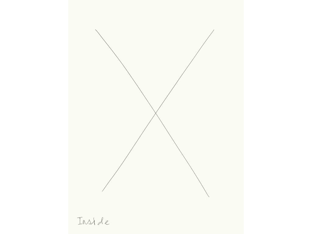 Claude Closky, 'Inside (diamond)', 2008, black ballpoint on paper, diptyque, twice 40 x 30 cm.