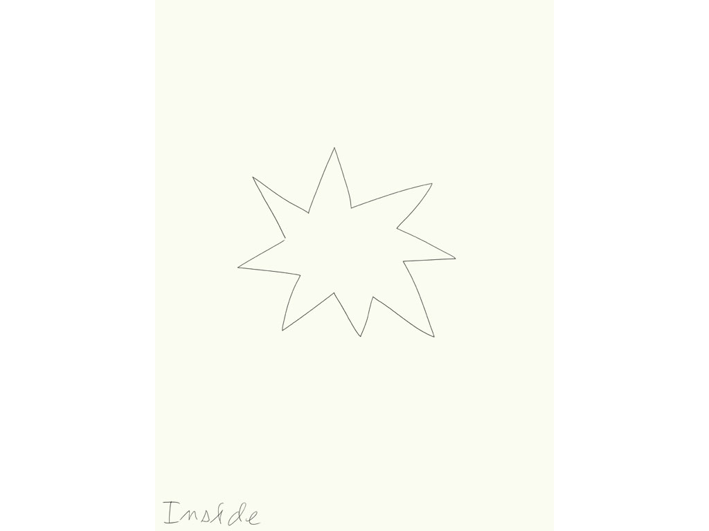 Claude Closky, 'Inside (star)', 2008, black ballpoint on paper, diptyque, twice 40 x 30 cm.