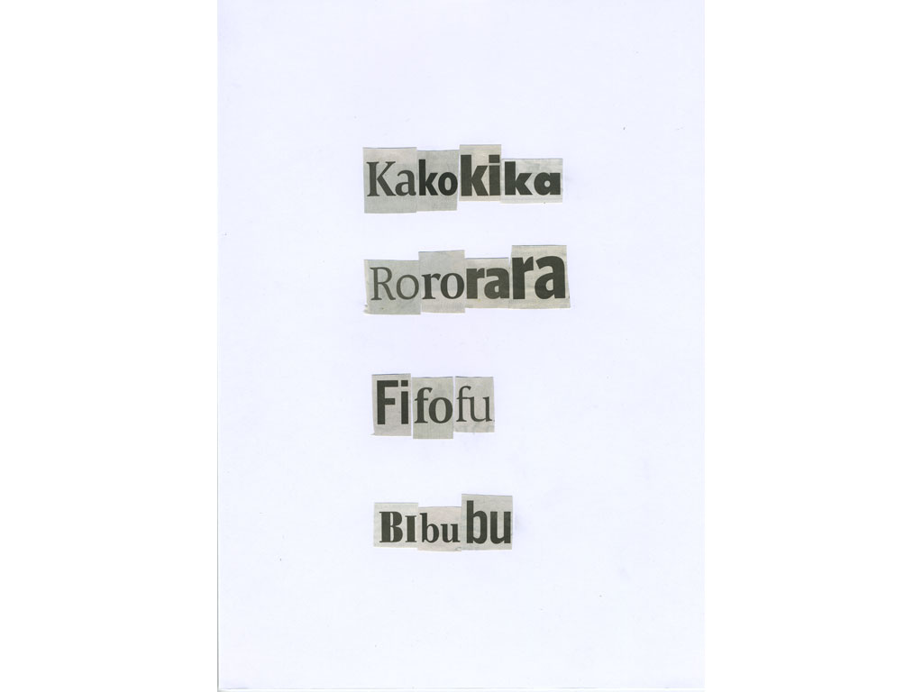 Claude Closky, 'Kakokika', 2010, collage on paper, diptyque, twice 30 x 21 cm.
