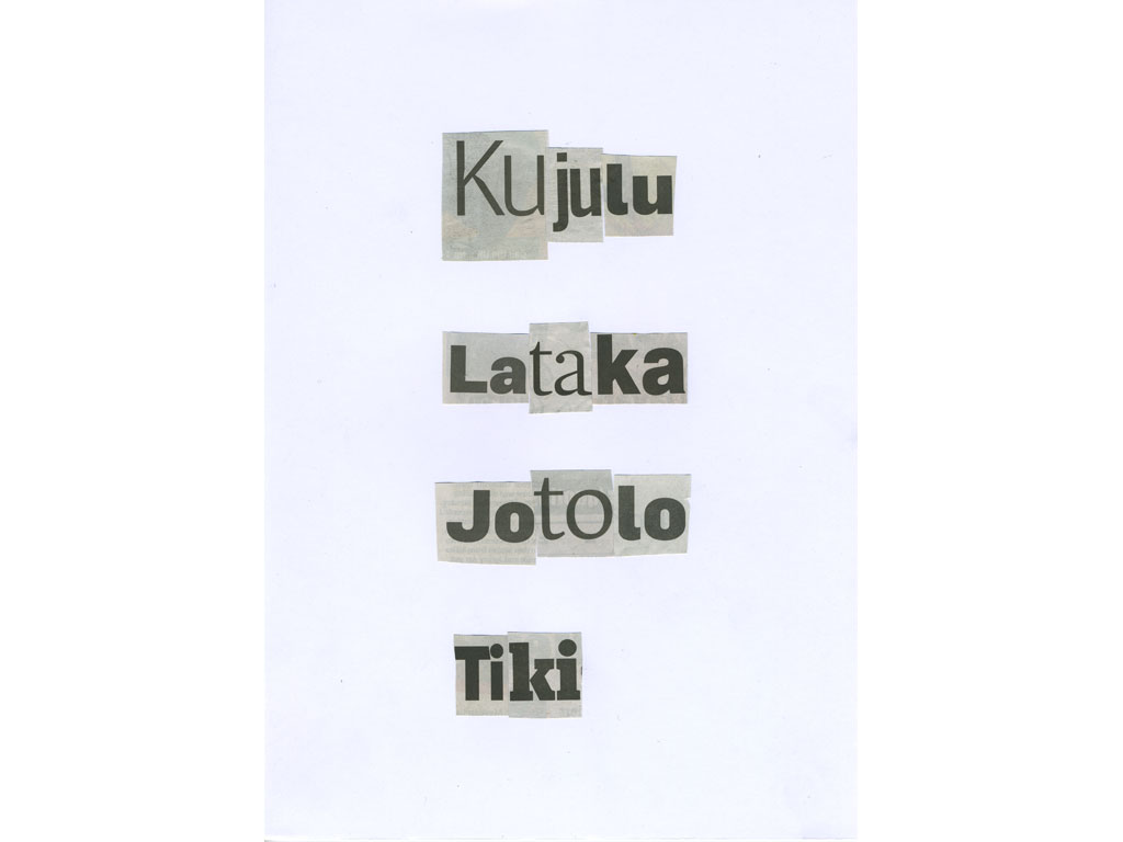 Claude Closky, 'Kujulu', 2010, collage on paper, diptyque, twice 30 x 21 cm.