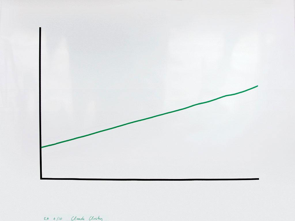 Claude Closky, 'La reprise', 2001, Paris: Les Amis du Musée d'art moderne de la ville de Paris, printed by Atelier Arcay, silkscreen and gouache felt-tip pen on glossy coated paper 170 g., 120 x 160 cm.