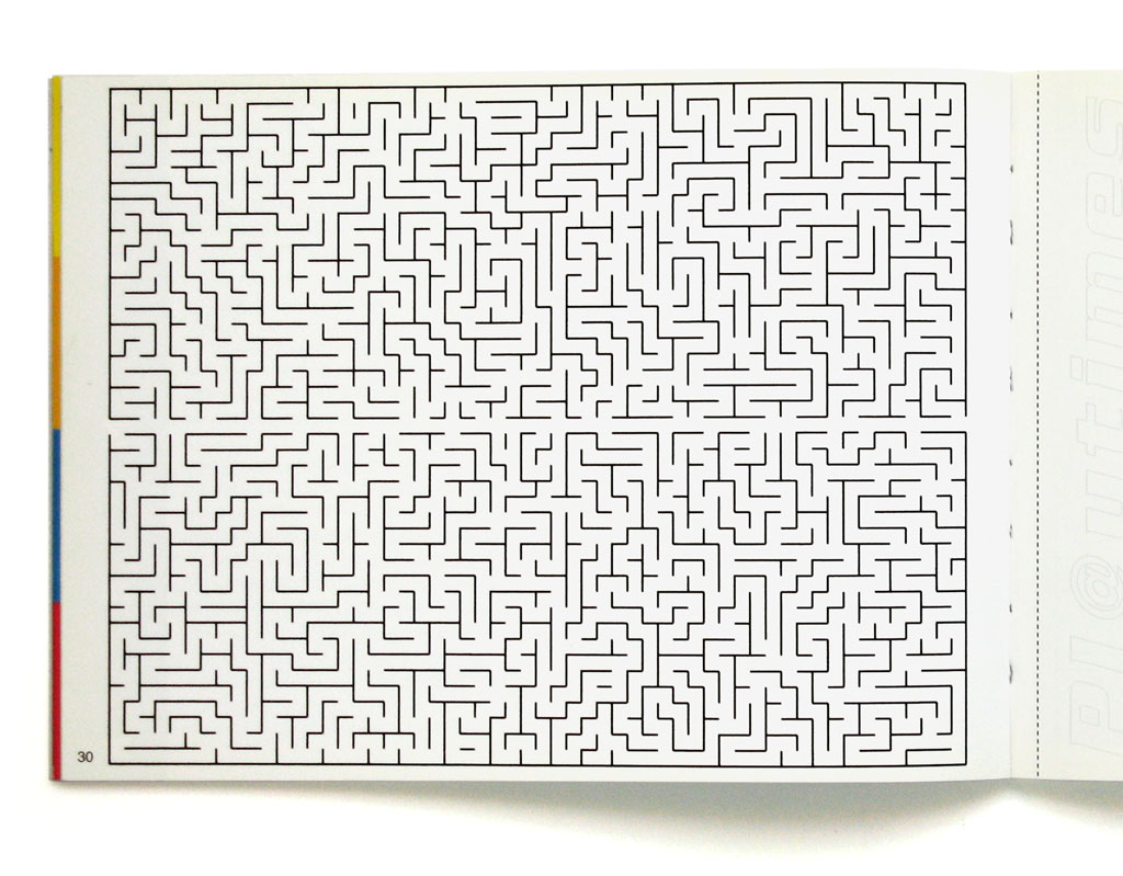 Claude Closky, 'Labyrinthe [Labyrinth]', 1999, insert, Pl@ytimes, edition Centre National d'Art Contemporain, Grenoble, p. 30, 15 x 21 cm.
