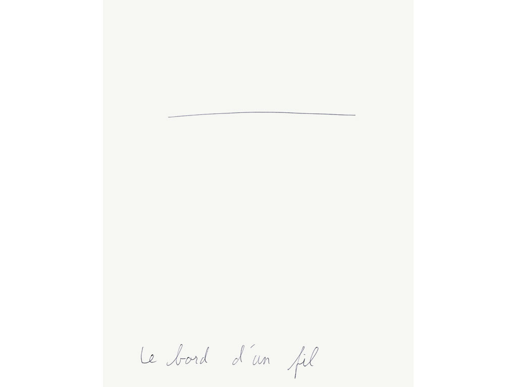 Claude Closky, 'Le bord d'un fil [the side of a piece of thread]', 1993, ballpoint pen on paper, 30 x 24 cm.