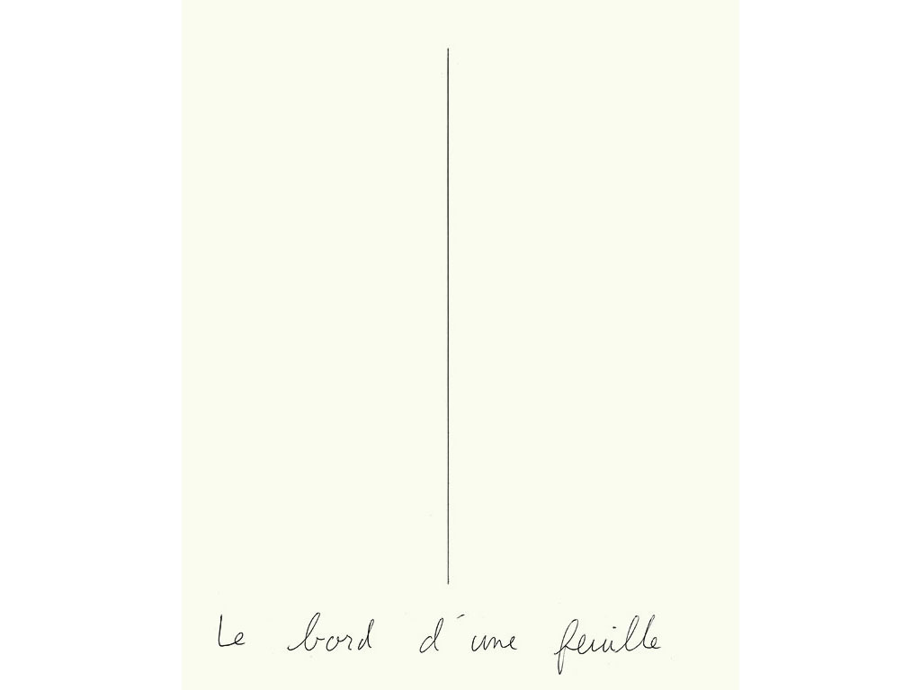 Claude Closky, 'Le bord d'une feuille [the edge of a sheet of paper]', 1992, ballpoint pen on paper, 30 x 24 cm.