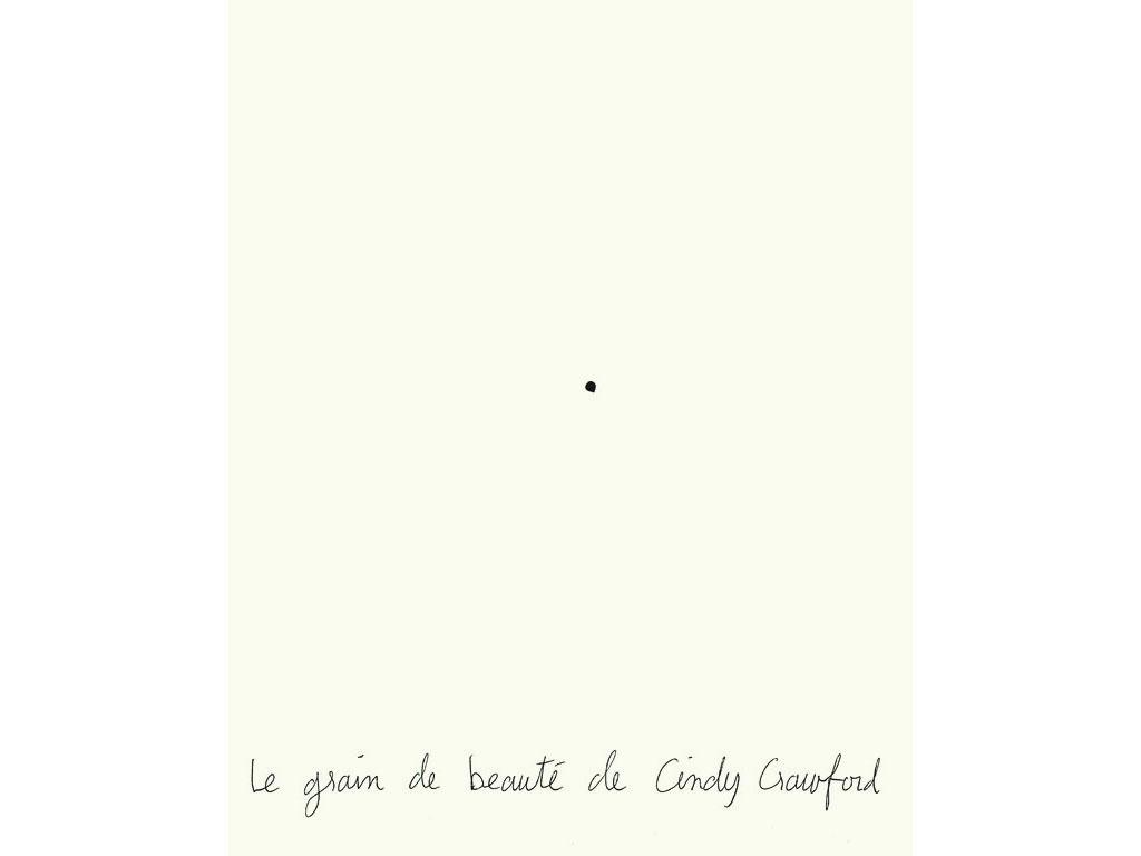 Claude Closky, 'Cindy Crawford's beauty mark', 1994, black ballpoint pen on paper, 30 x 24 cm.