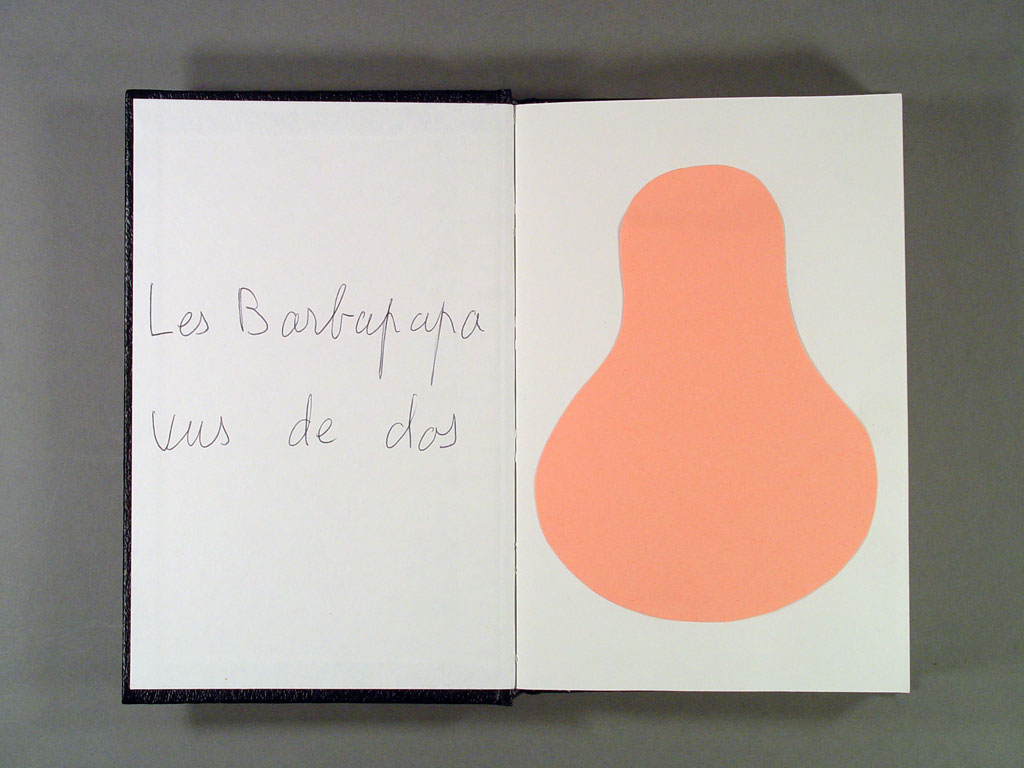 Claude Closky, 'Les Barbapapa vus de dos', 1997, collage, sketch book, 200 pages, 21,5 x 14,5 cm.