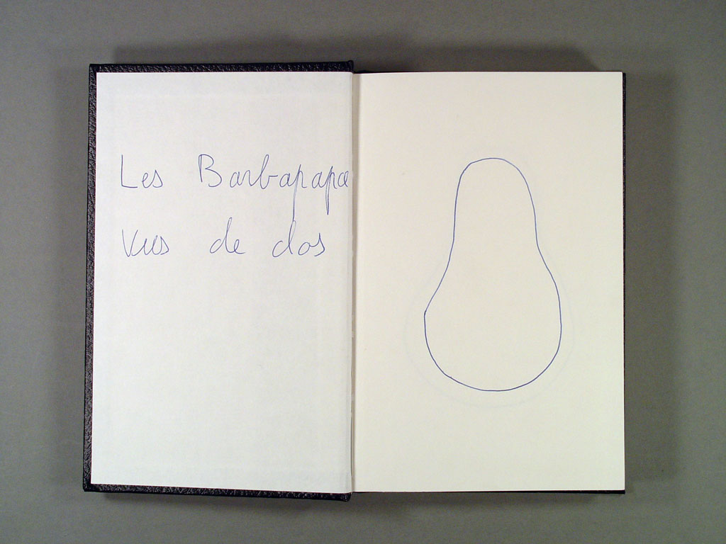 Claude Closky, 'Les Barbapapa vus de dos', 1997, ballpoint pen, sketch book, 200 pages, 21,5 x 14,5 cm.