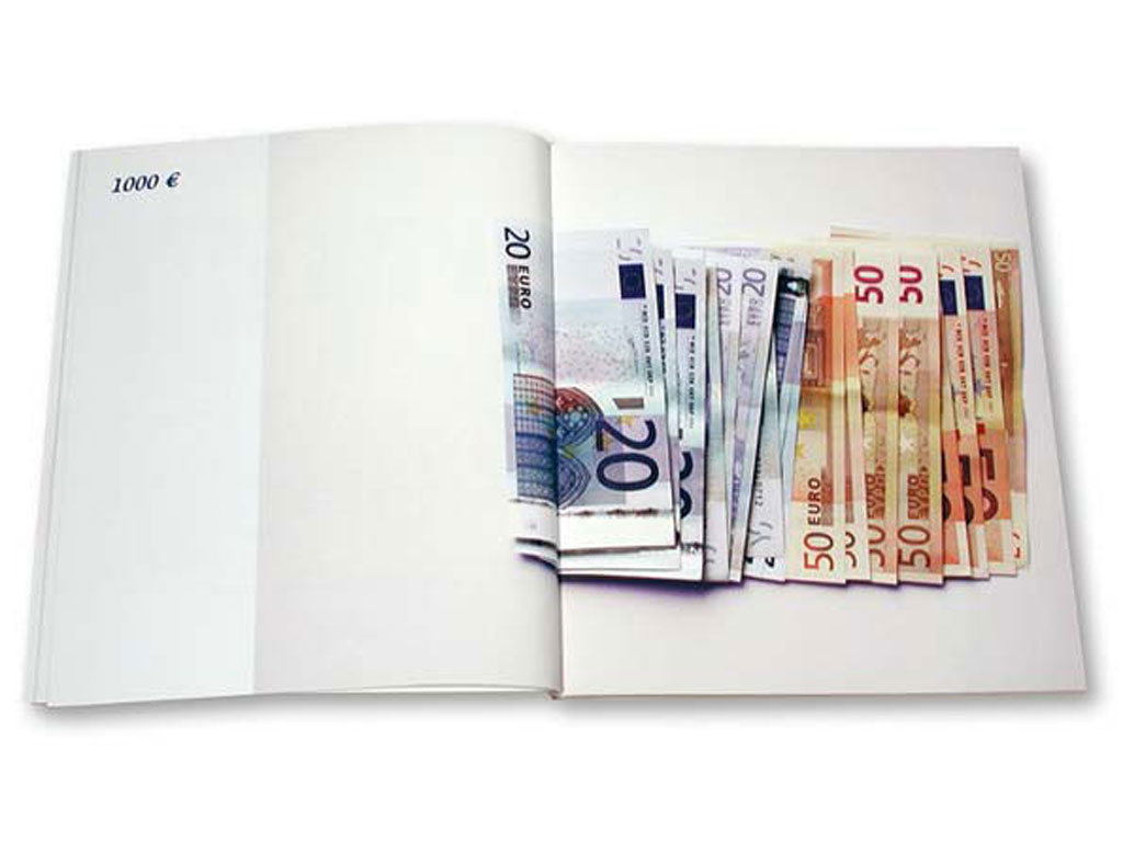 Claude Closky, 'Les euros [Euros]', 2003, Paris: M 19, 80 pages, 20 x 17 cm.