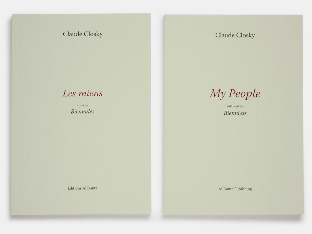 Claude Closky, 'My people (followed by biennials)', 2008-2009, Marseilles: Al Dante Publishing (English and French separate editions), 96 pages, 21 x 14,5 cm.
