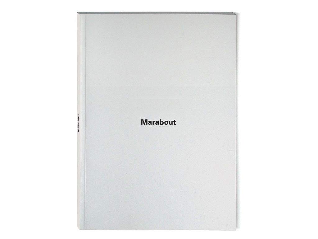 Claude Closky, 'Marabout,' 1996, Ibos: Le Parvis. Black offset, 64 pages, 21 x 15 cm.