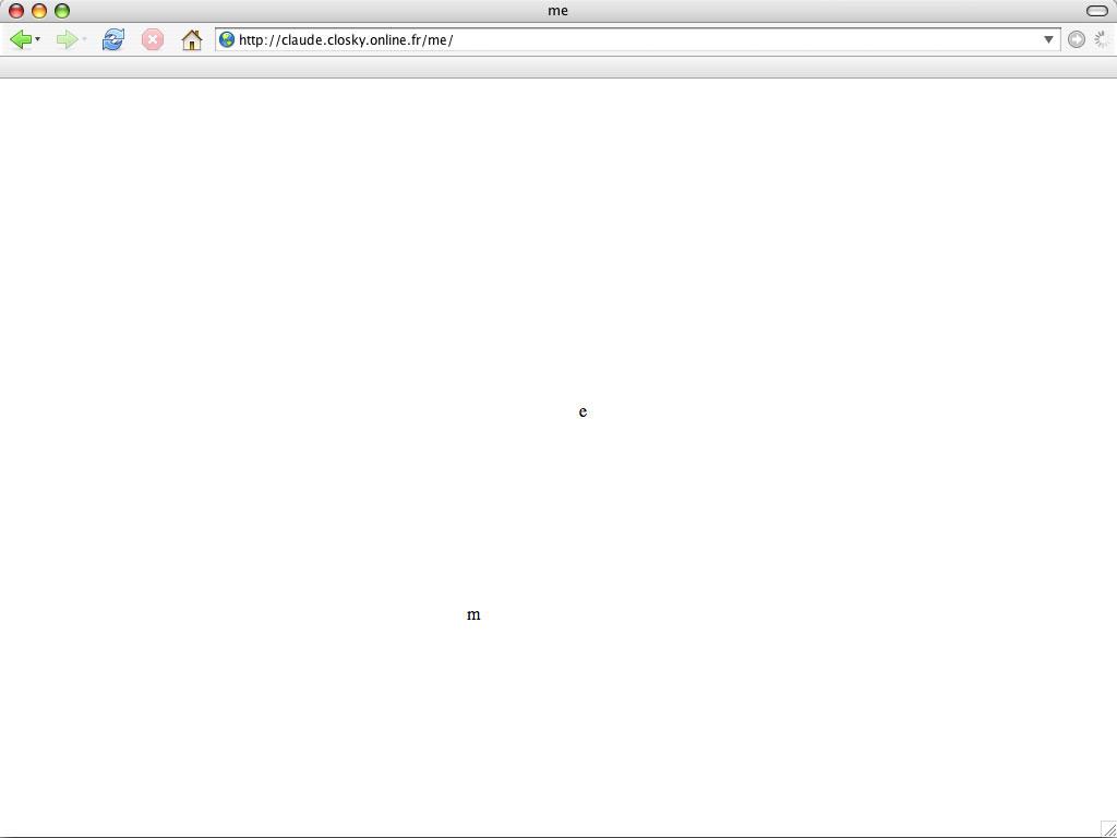 Claude Closky, 'Me', 2006, web site, Javascript (http://claude.closky.online.fr/me).