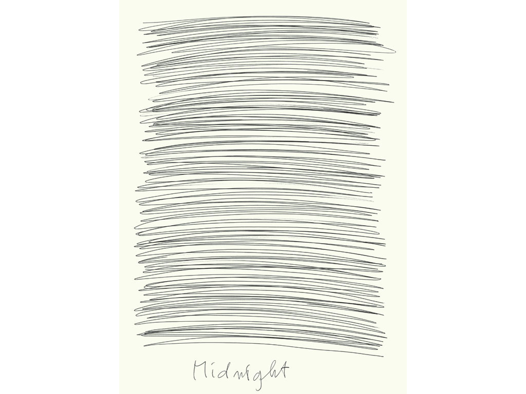 Claude Closky, 'Midday - Midnight', 2007, blue and black ballpoint on paper, diptyque, twice 35 x 25,5 cm.