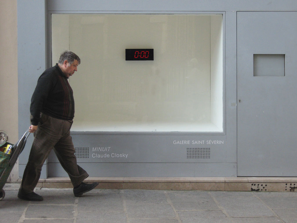 Claude Closky, 'Midnight,' 2008, red electronic led sign, 18 x 42,5 x 7,5 cm (digit height: 10 cm), unlimited duration..