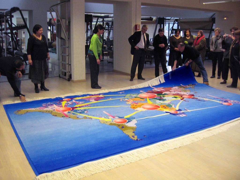 Claude Closky, 'Neo Geo,' 2004-2008, carpet, 300 x 500 cm.