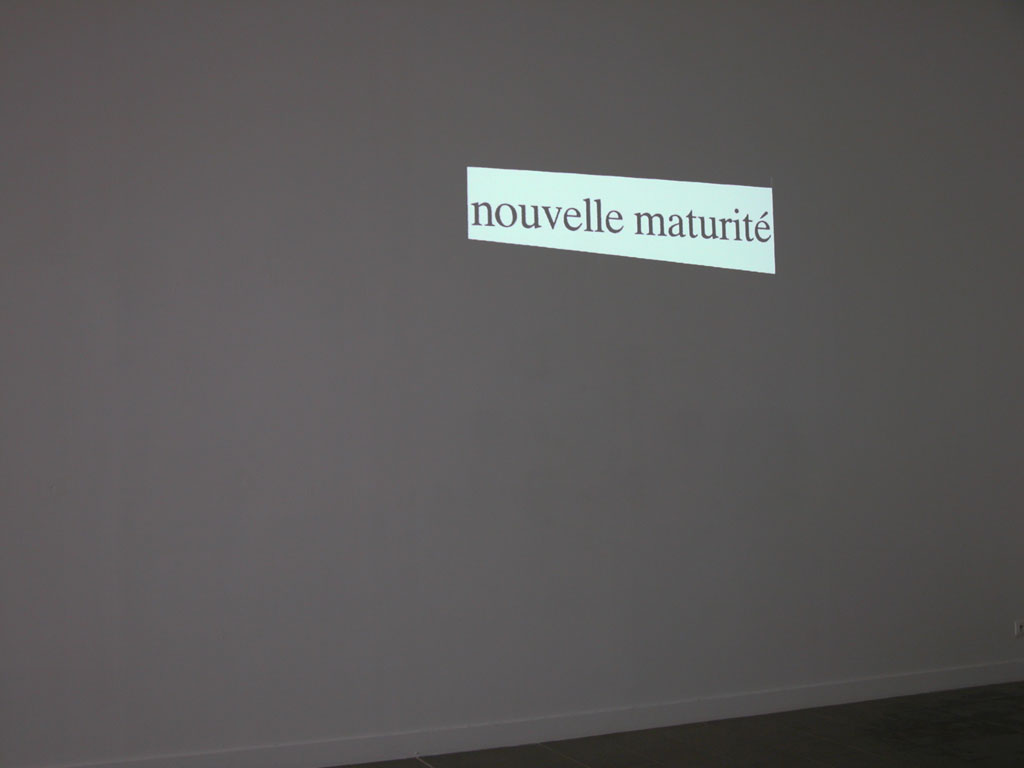 Claude Closky, 'Nouveau [New]', 1997, projector, computer, silent, unlimited duration. Exhibition view Domaine de Kerguéhennec Centre d'Art Contemporain, Bignan. 5 April - 15 June 2003. Curated by Frédéric Paul