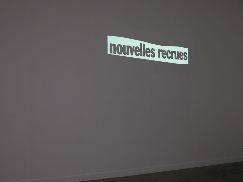 Claude Closky, 'Nouveau [New]', 1997, projector, computer, silent, unlimited duration.
