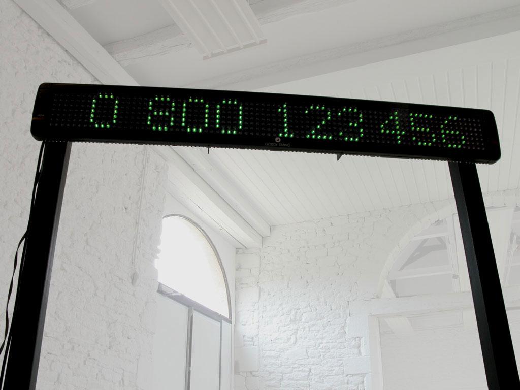 Claude Closky, 'Eight hundred numbers', 2000-2002, electronic led sign, green diodes, computer, unlimited duration. Domaine de Kerguéhennec Centre d'Art Contemporain, Bignan. 5 April - 15 June 2003. Curator: Frédéric Paul