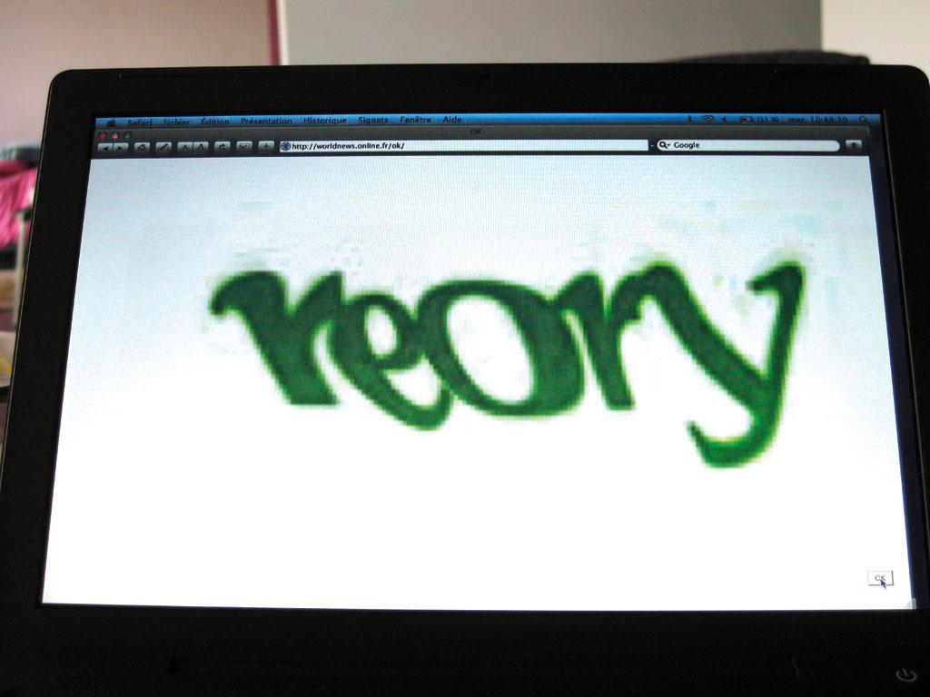Claude Closky, 'Ok', 2005, interactive web site, Php (http://worldnews.online.fr/ok).