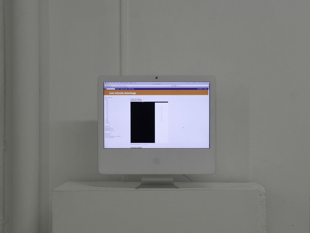 Claude Closky, 'One minute drawings', 2010, internet blog (http://one-minute-drawings.blogspot.com), 525 600 posts.