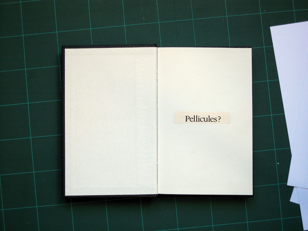Claude Closky, 'Pellicules ? [dandruffs?]', 1995, collage on sketch pad, 200 pages, 21,5 x 14,5 cm.