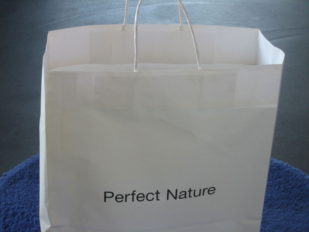 Claude Closky, 'Perfect Nature', 2002, paper bag. Pisa: Fondation Teseco per l'Arte,  39 x 32 x 13 cm.