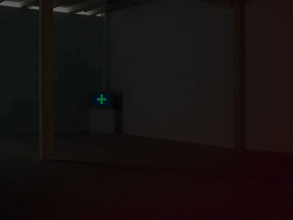 Claude Closky, 'Open Pharmacy', 1998, monitor, dvd, dvd player, silent, 60 minutes. Exhibition view Galerie Roger Pailhas, Marseille. 5 March - 30 April 2004