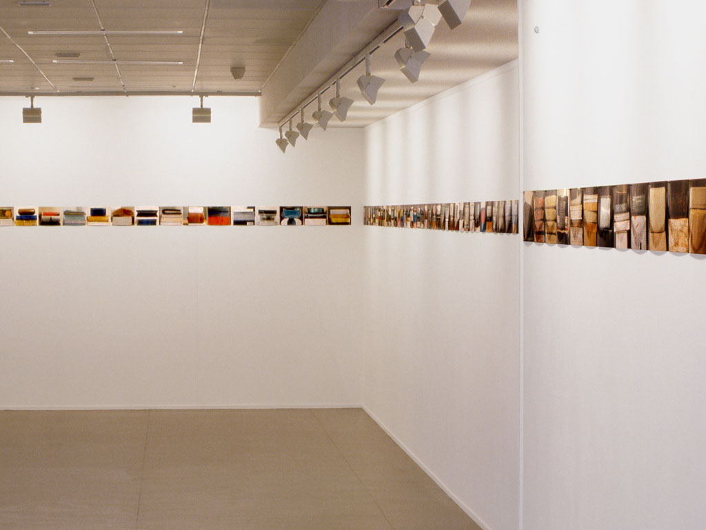 Claude Closky, 'Piles of little familiar objects ', 1995, c-print, 21 x 3 000 cm (160 prints 15 x 21 and 21 x 15 cm). Exhibition view Frac Languedoc-Roussillon, Montpellier. 18 May - 30 June 1995. Curated by Ami Barak