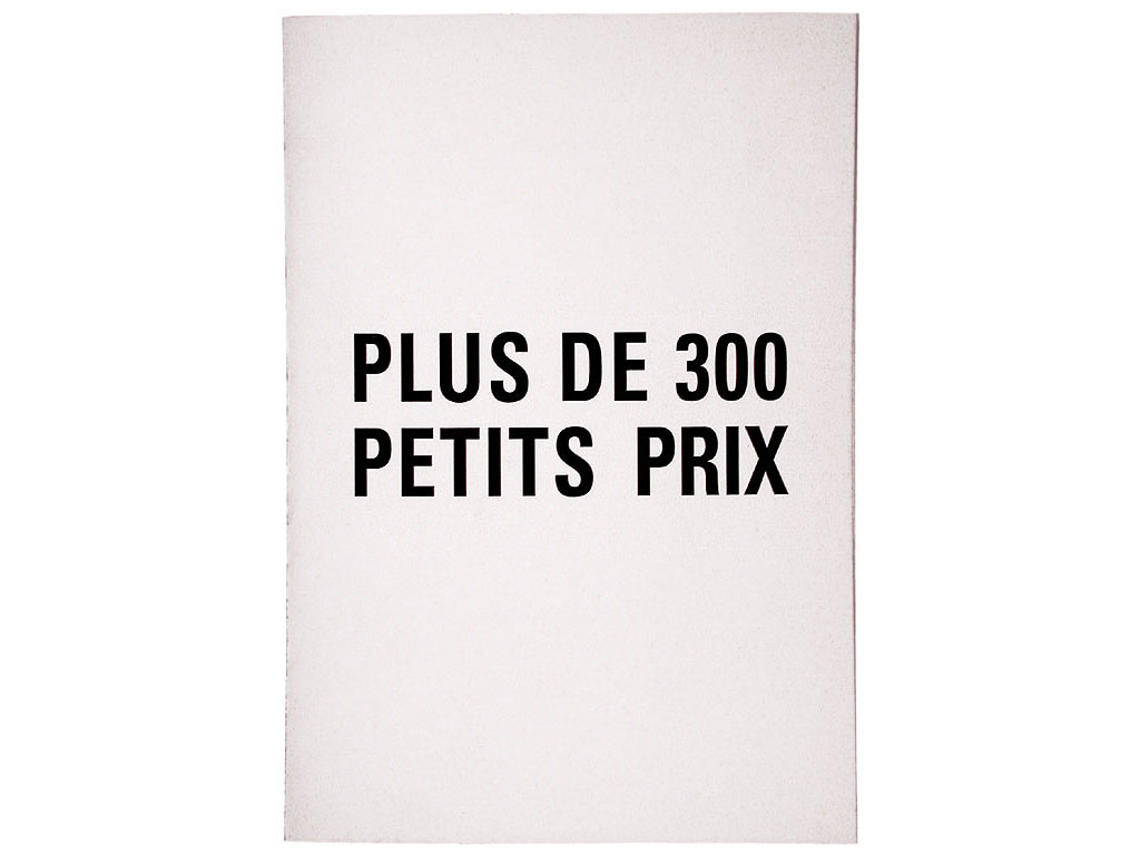 Claude Closky, 'Plus de 300 petits prix [300 budget prices],' 1990, artist's publication. Photocopy, 16 pages, 21 x 15 cm.