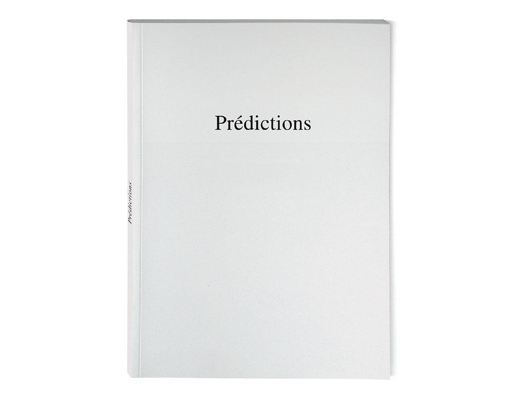 Claude Closky, 'Prédictions [predictions],' 1996, Rouen: Frac Haute-Normandie. Black offset, 80 pages, 21 x 15 cm.