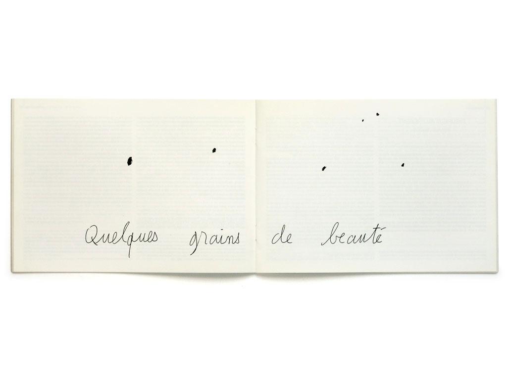 Claude Closky, 'Quelques grains de beauté [Some beauty spots]', 1994, Pleneuf-Val-Andre: Art Présence #11, pp. 18-19.