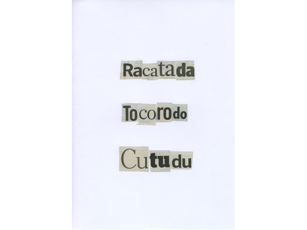 Claude Closky, 'Racatada', 2010, collage on paper, diptyque, twice 30 x 21 cm.