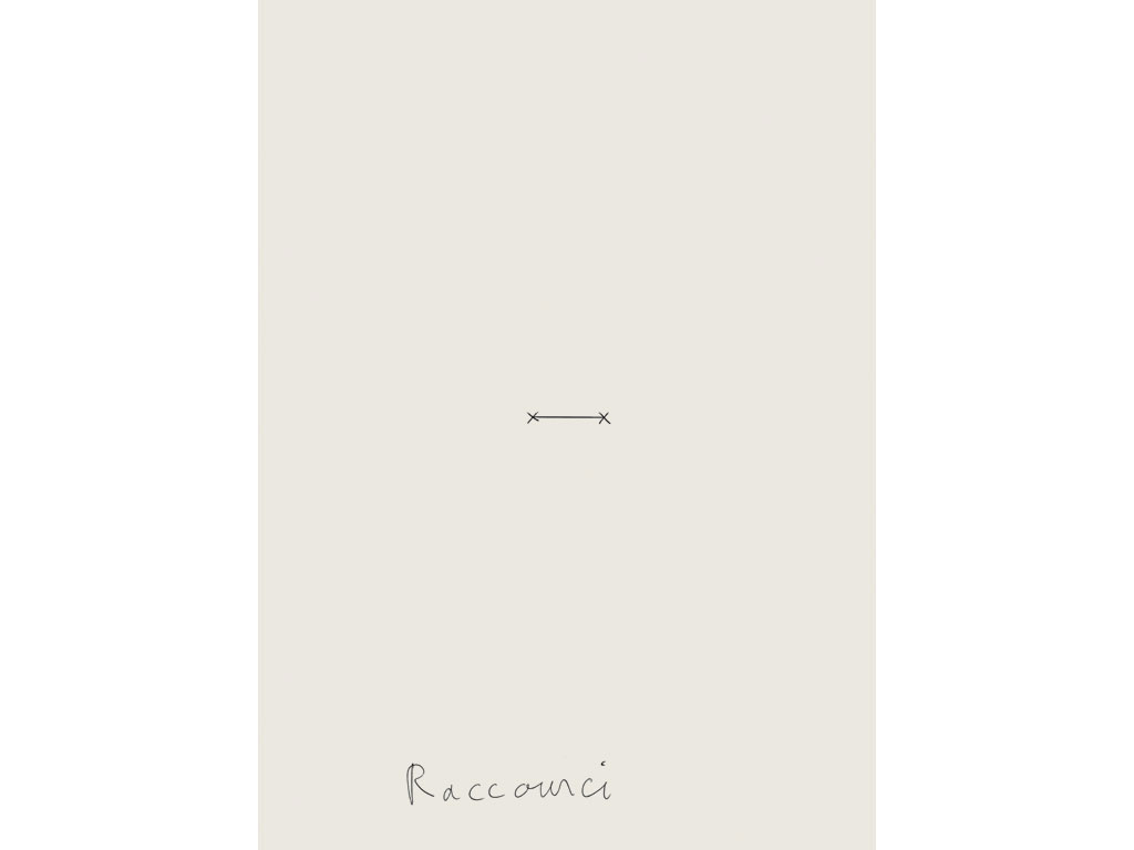 Claude Closky, 'Raccourci / Détour [Shortcut  / Detour]', 2004, black ballpoint pen on paper, 2 drawings 35 x 25,5 cm.