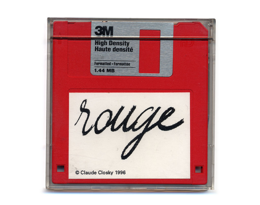 Claude Closky, 'Rouge [red]', 1996, floppy disk, computer (Mac), speaker(s), 31 minutes.