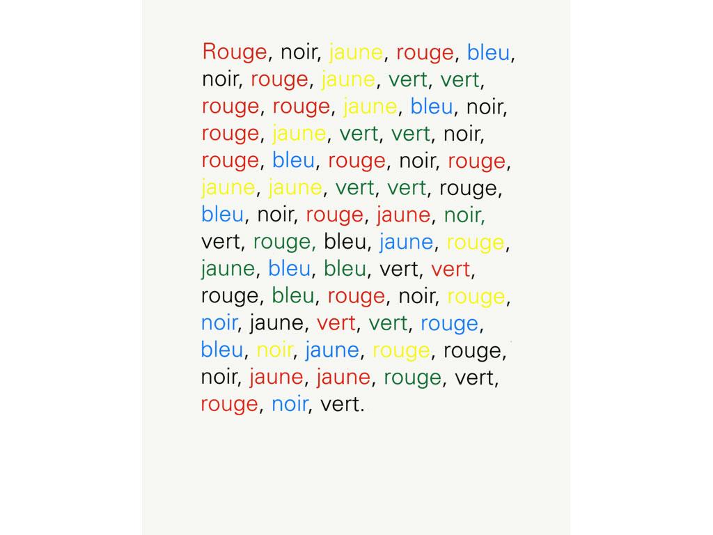 Claude Closky, 'Rouge, noir, jaune [red, black, yellow]', 1991, bromide print, 30 x 24 cm.