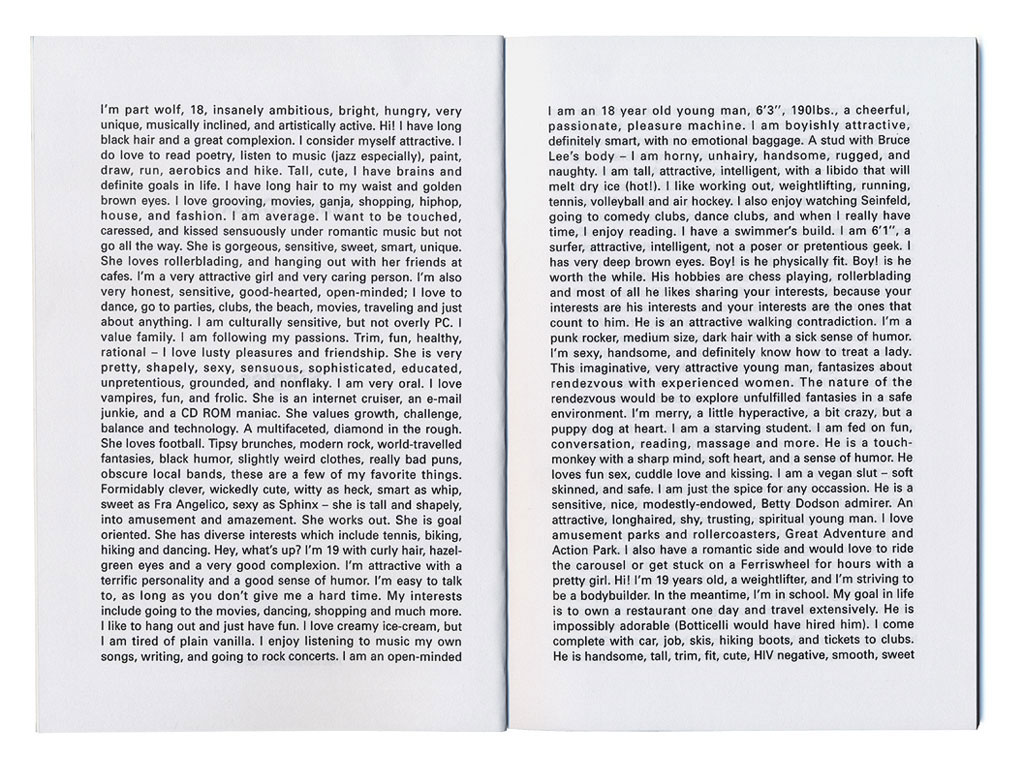 Claude Closky, 'Singles,' 1995, Montpellier: Frac Languedoc-Roussillon. Black offset, 21 x 15 cm, 80 pages.