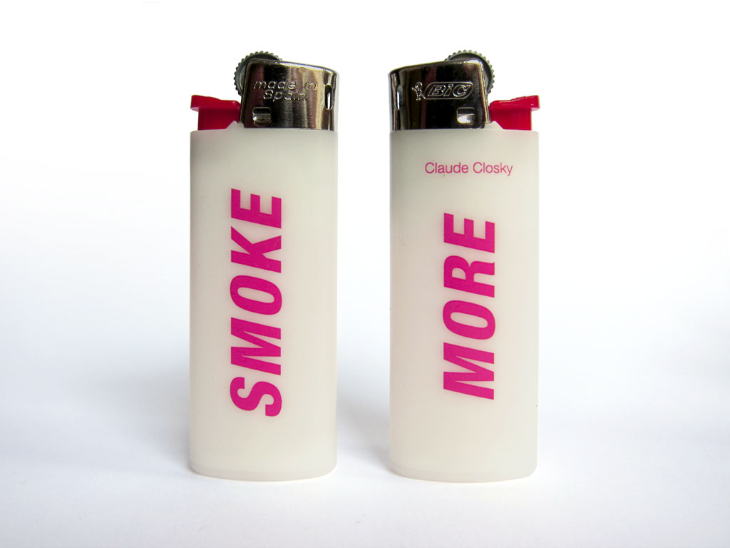 Claude Closky, 'Smoke More', 2000, 2 lighters, Paris: Colette.