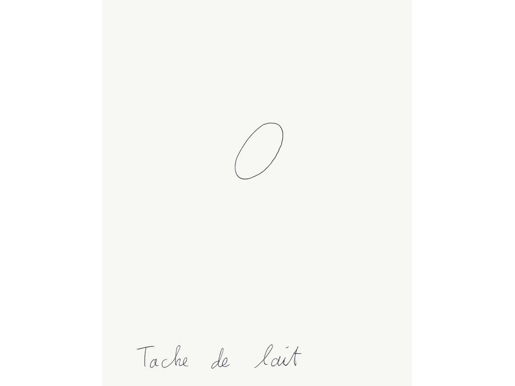 Claude Closky, 'Tache de lait [Milk Stain]', 1995, ballpoint pen on paper, 30 x 24 cm.