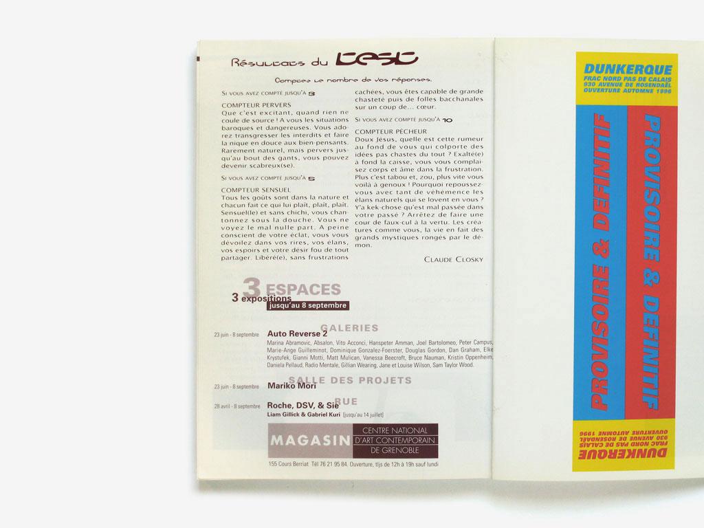 Claude Closky, 'Test: Jusqu'où savez-vous compter ? [Test: How Far Can You Count?]', 1996, Paris: Purple prose #11, column 23.