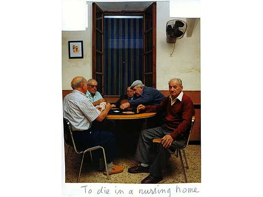 Claude Closky, 'To die a nursing home', 2009, collage and ball-point pen on paper, 30 x 21 cm.